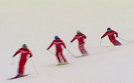 Schön Skifahren Ski Skilehrer Skischule