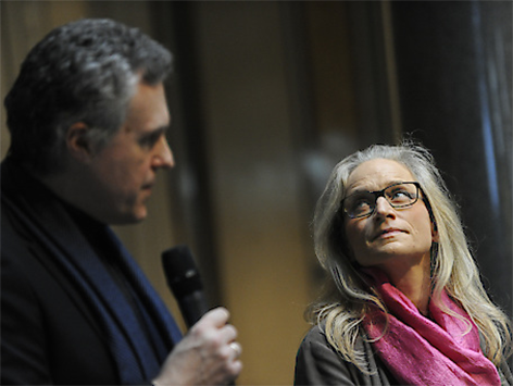 Der Wissenschaftlicher Leiter des Museums für Angewandte Kunst Christoph Thun-Hohenstein und die Kaufmännische Geschäftsführerin Teresa Mitterlehner-Marchesani