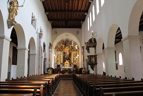 Innenraum der Stiftskirche Michaelbeuern