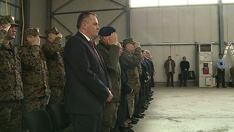 Verteidigungsminister Hans Peter Doskozil bei der EUFOR-Truppe in Sarajewo