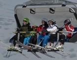 Skifahrer Skipiste Skilift Snowboarder Winter