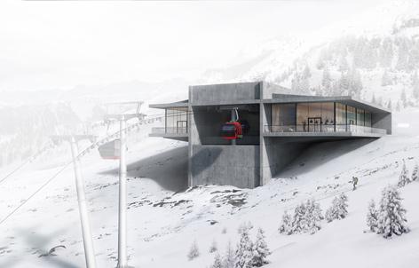 Visualisierung der Patscherkofel-Bergstation