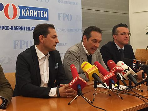 FPÖ Vorstand Strache Darmann Ragger