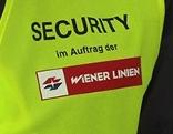 Schriftzug Security im Auftrag der Wiener Linien