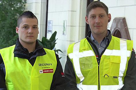 Security-Mitarbeiter bei den Wiener Linien