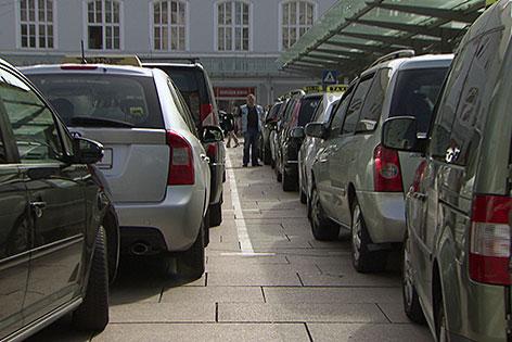 Taxistandplatz am Hauptbahnhof Salzburg