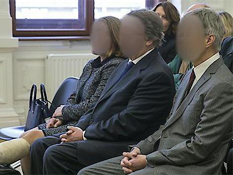 Die drei Angeklagten