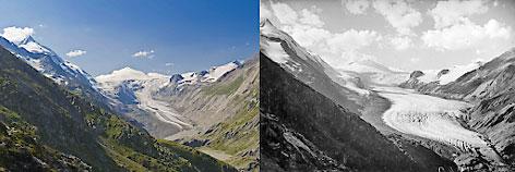 Vergleich Pasterze 2012 - 1920