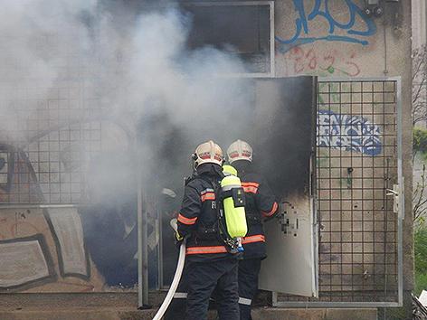 Brand ehemaliger Frachtenbahnhof