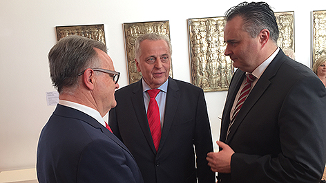 SPÖ-Landesparteitag in Raiding, Niessl, Hundstorfer und Doskozil