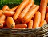 Karotten in Korb