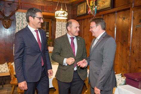 LH Arno Kompatscher, BM Wolfgang Sobotka und LH Günther Platter