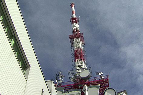 Mast des Senders auf dem Gaisberg in der Stadt Salzburg