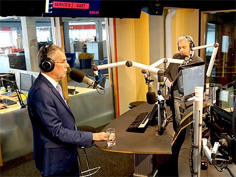 Alexander Van der Bellen zu Gast im ORF Landesstudio OÖ