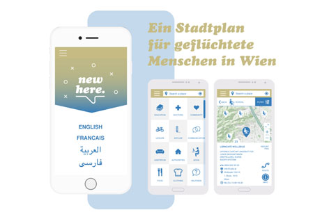 App Flüchtlinge New Here Mock-up