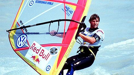 Björn Dunkerbeck beim Freestyle Worldcup am Neusiedler See