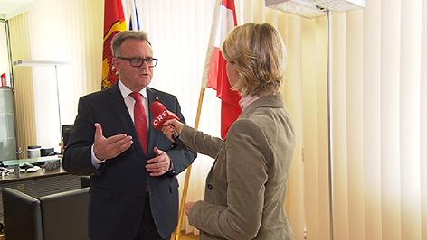 Landeshauptmann Hans Niessl im Interview mit Patricia Spieß