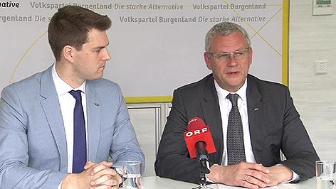 ÖVP-Landesgeschäftsführer Christoph Wolf und ÖVP-Chef Thomas Steiner