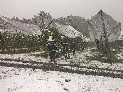 Die Feuerwehr im Schneeeinsatz