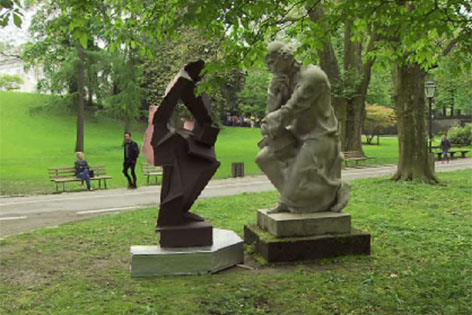 Kunstaktion im Kurgarten