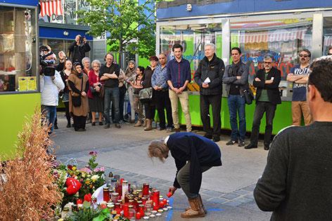 Trauer am Brunnenmarkt