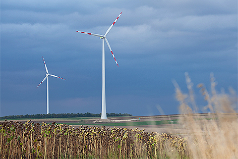 Windparkanlage Windkraft Poysdorf