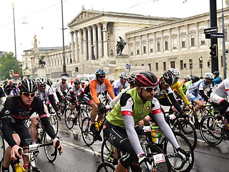 Gran Fondo Giro d'Italia in Wien im Mai 2016