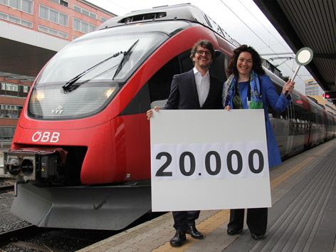 Landeshauptmann-Stellvertreterin Ingrid Felipe und Alexander Jug, Regionalleiter ÖBB-Personenverkehr Tirol