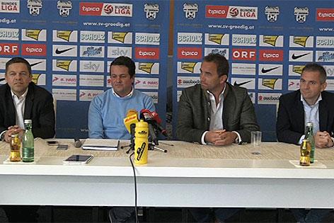 Pressekonferenz Rückzug SV Grödig
