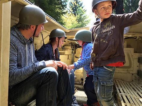 Panzerfahrt Bunkermuseum Wurzenpass