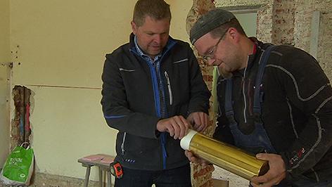 Sensationeller Fund in Pinkafeld, Kaserne, Bauarbeiten