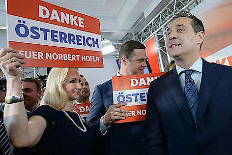 Johann Gudenus und Heinz-Christian Strache