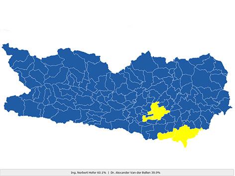 Wahlgrafik Wahlverhalten Kärnten Bundespräsidentenwahl