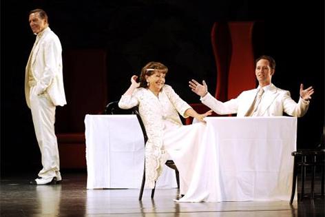 Jürgen Wilke, Marianne Nentwich und Sascha Oskar Weis bei den Festspielen Reichenau 2006