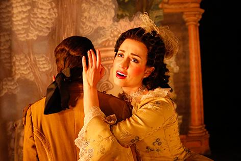 Megan Kahts als Tisbe in Piramo e Tisbe im Stift Altenburg