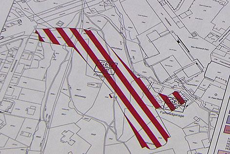 Flächenwidmungsplan der Stadt Salzburg für die Mönchsberggarage