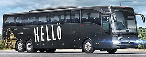 Hellö-Bus der ÖBB