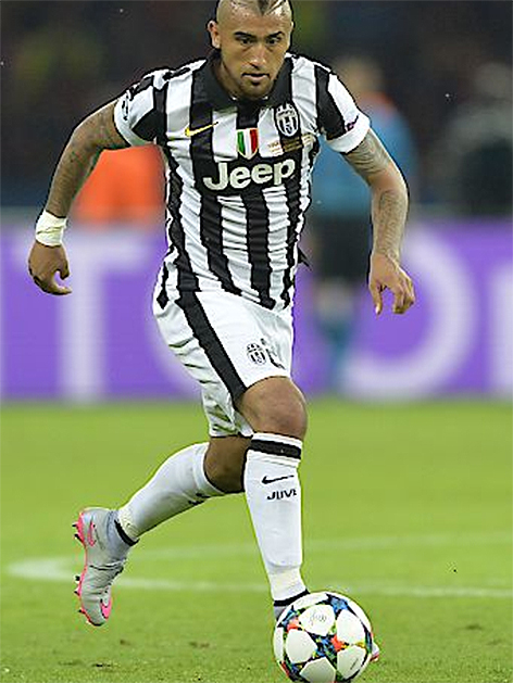 Arturo Vidal von Juventus im Champions League Finale 2015 in Berlin