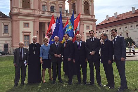 Ehrengäste beim Europa Forum Wachau im Stift Göttweig 2016