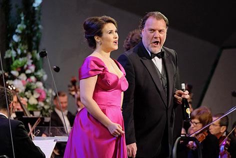 Bariton Bryn Terfel mit Sopranistin Olga Peretyatko