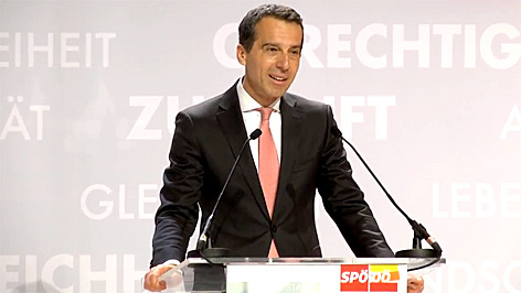 Christian Kern beim Landesparteitag der SPOÖ