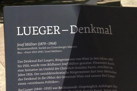 Lueger Denkmal bekommt Zusatztafel