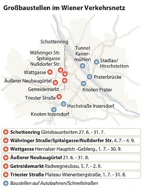 Graphik zum Wiener Baustellensommer