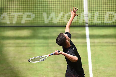 Dominic Thiem beim Turnier in Halle