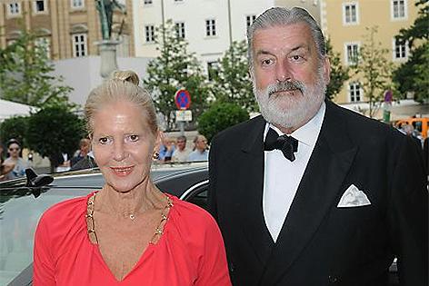 Christiane Hörbiger und Gerhard Tötschinger bei den Salzburger Festspielen 2014