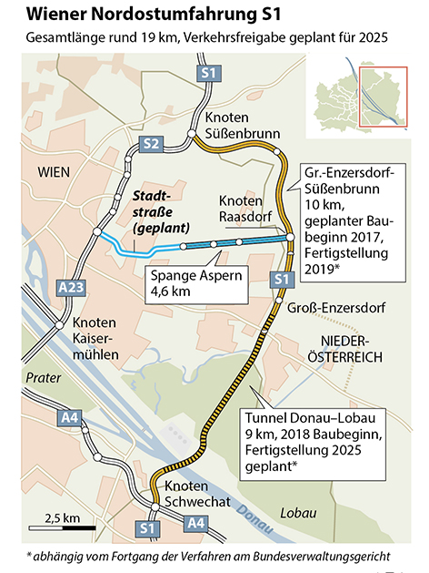 Grafik Aspern Stadtstrase