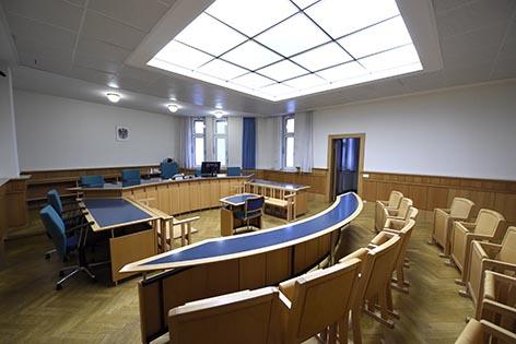 Straflandesgericht Prozess Saal Gericht