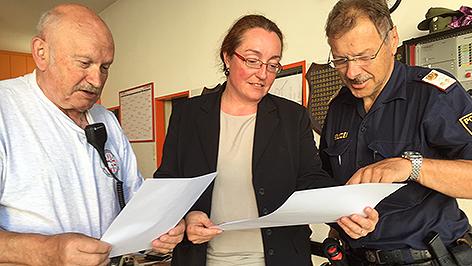 Suchaktion Güttenbach, Bezirkshauptfrau Nicole Wild