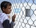 Syrischer Junge im Zaatari Flüchtlingslager in Jordanien