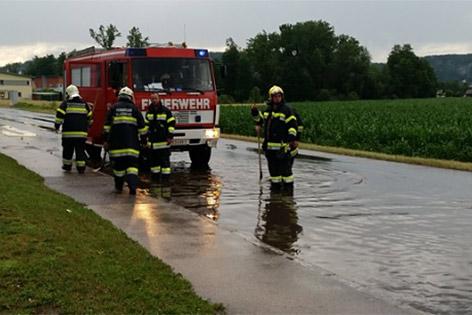 Unwetter Oberkärnten Feuerwehreinsätze Überflutungen